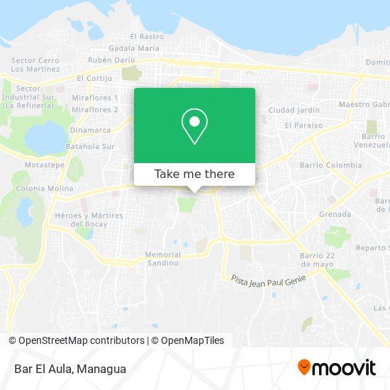 Bar El Aula map