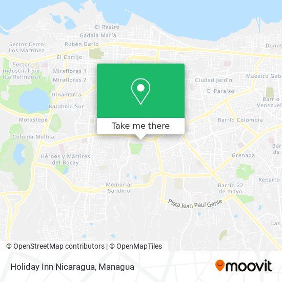 Holiday Inn Nicaragua map