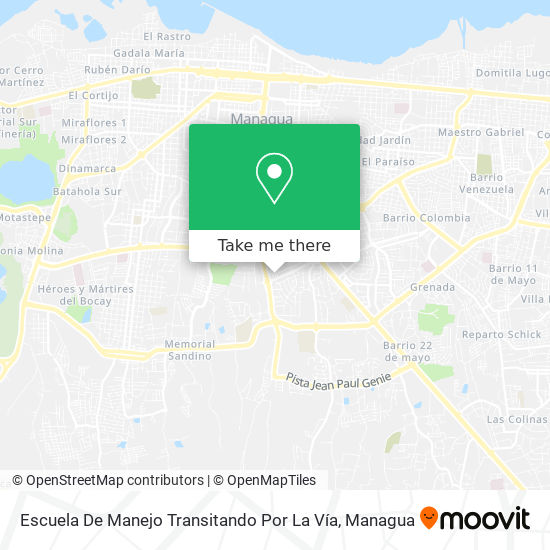 Escuela De Manejo Transitando Por La Vía map