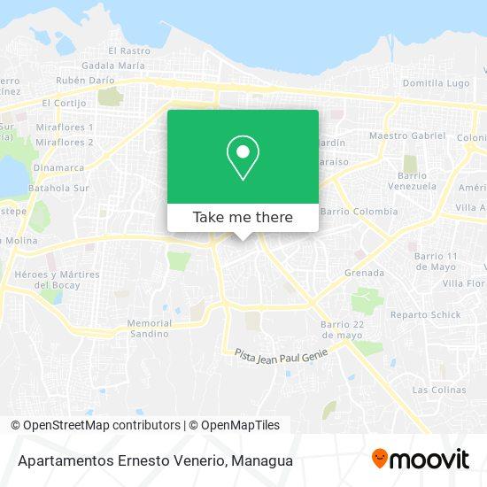Apartamentos Ernesto Venerio map