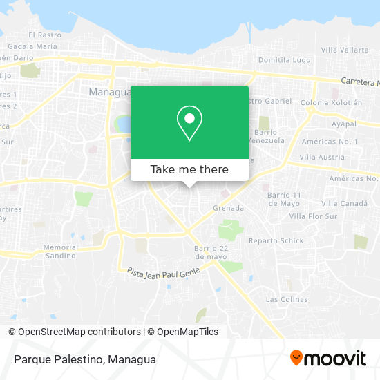 Parque Palestino map