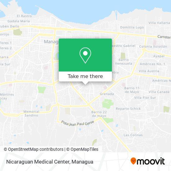 Nicaraguan Medical Center map
