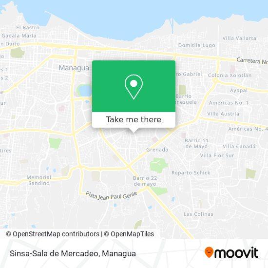 Sinsa-Sala de Mercadeo map