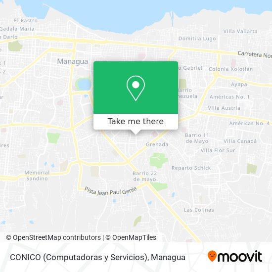 CONICO (Computadoras y Servicios) map