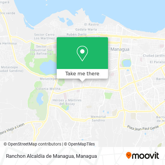 Ranchon Alcaldía de Managua map