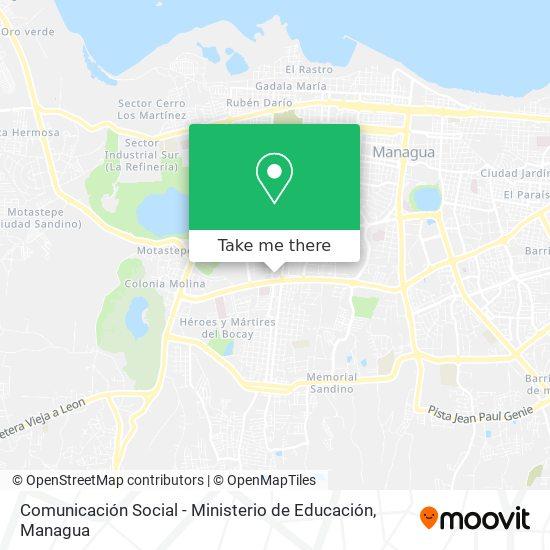 Comunicación Social - Ministerio de Educación map