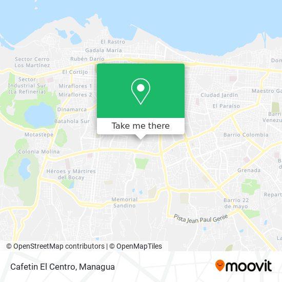 Cafetin El Centro map