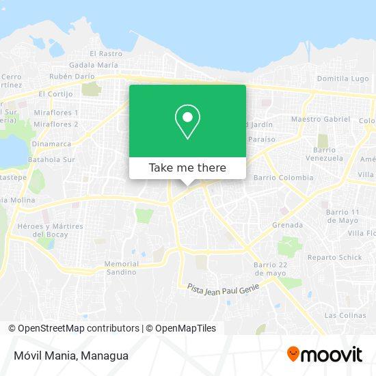 Móvil Mania map
