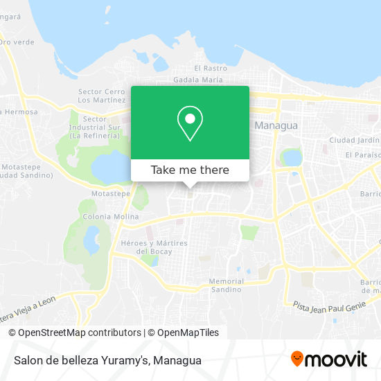 Salon de belleza Yuramy's map