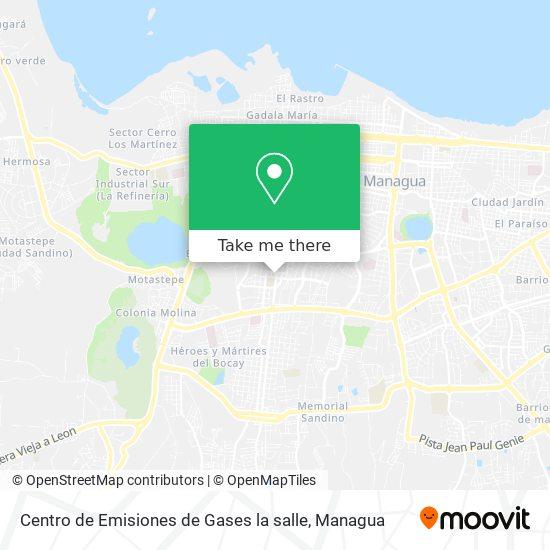 Centro de Emisiones de Gases la salle map