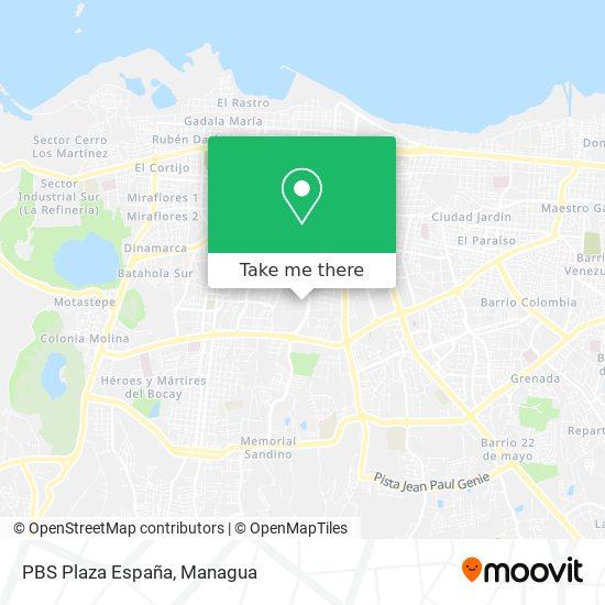 PBS Plaza España map