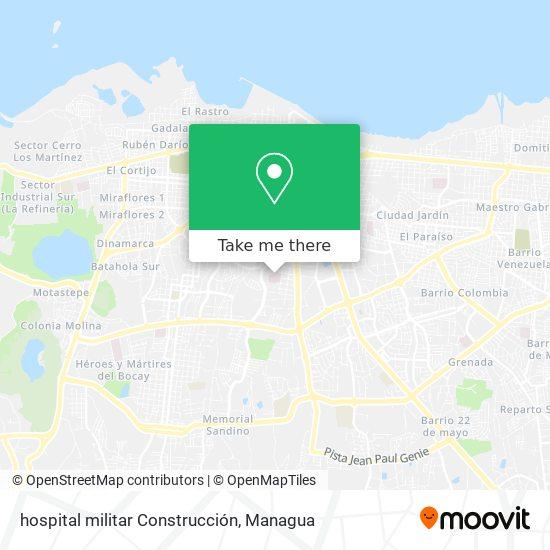 hospital militar Construcción map