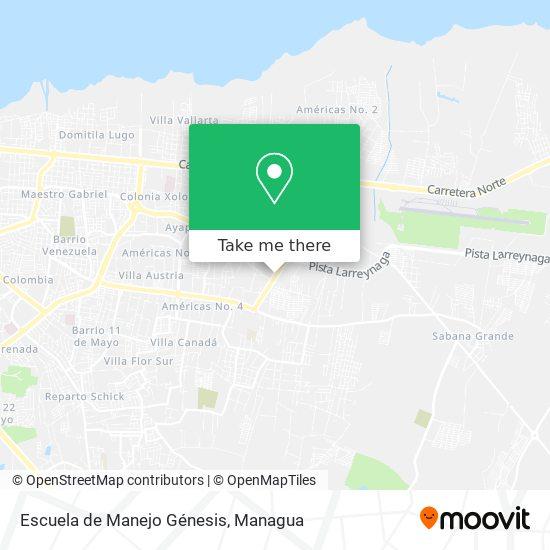 Escuela de Manejo Génesis map