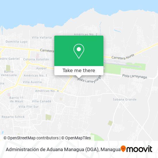 Administración de Aduana Managua (DGA) map