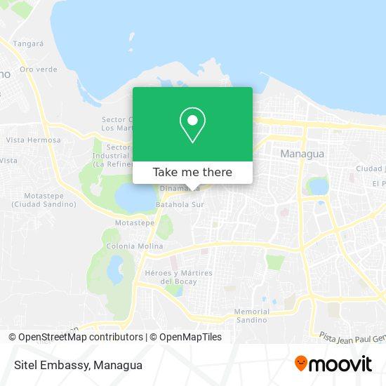 Sitel Embassy map