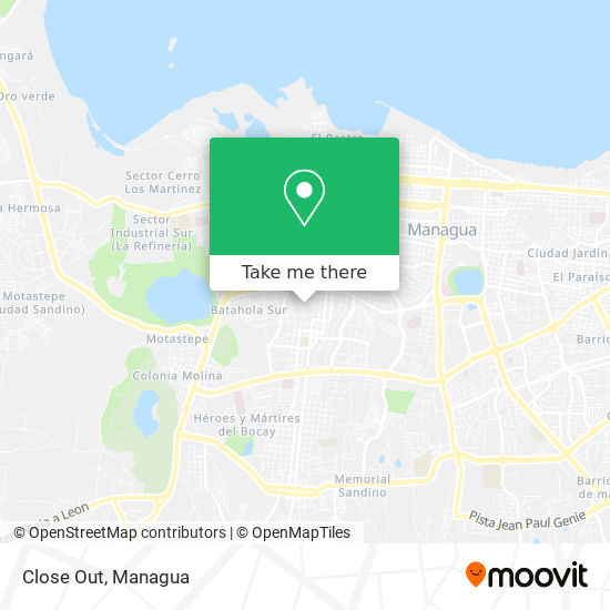 Close Out map