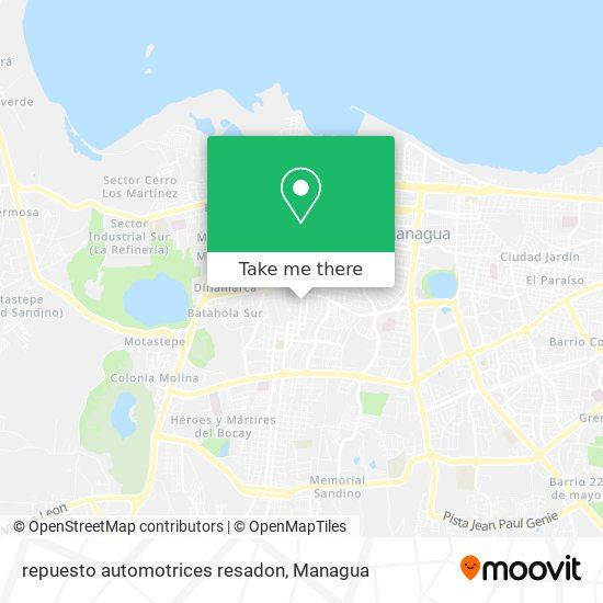 repuesto automotrices resadon map