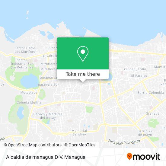 Alcaldia de managua D-V map