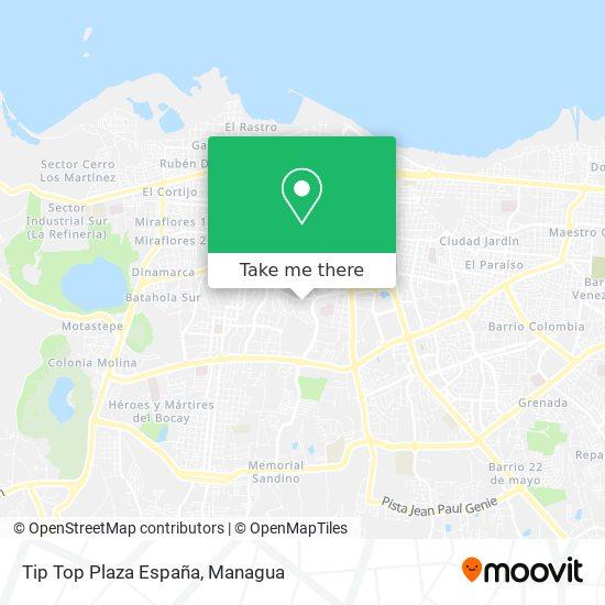 Tip Top Plaza España map