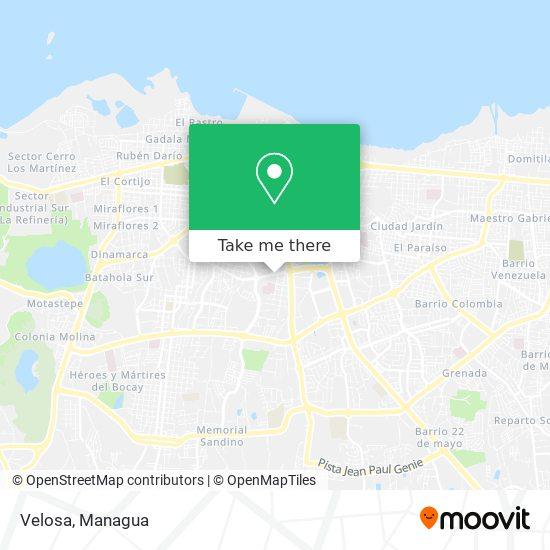 Velosa map