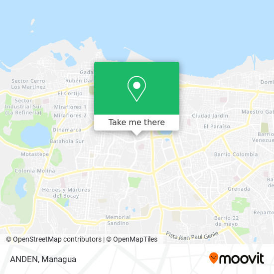 ANDEN map