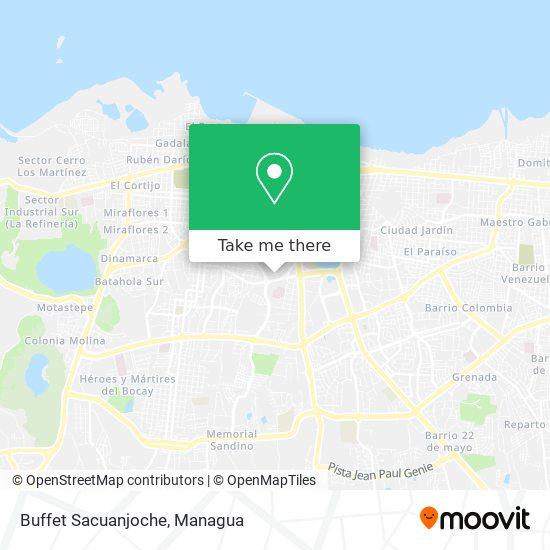 Buffet Sacuanjoche map