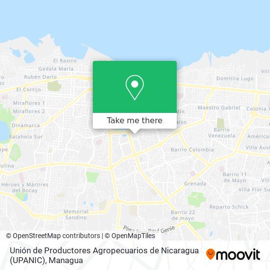 Unión de Productores Agropecuarios de Nicaragua (UPANIC) map