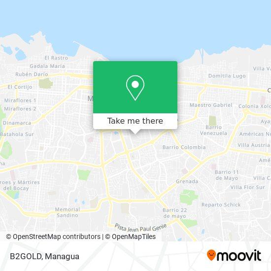 B2GOLD map