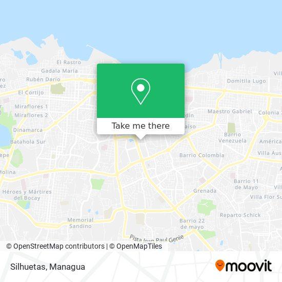 Silhuetas map