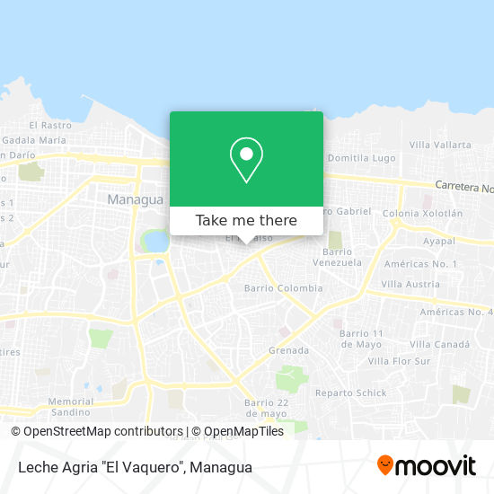 """Leche Agria """"El Vaquero"""" map"""