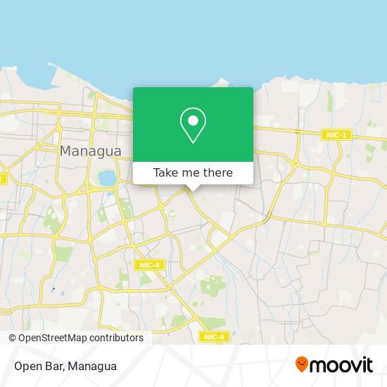 Open Bar map