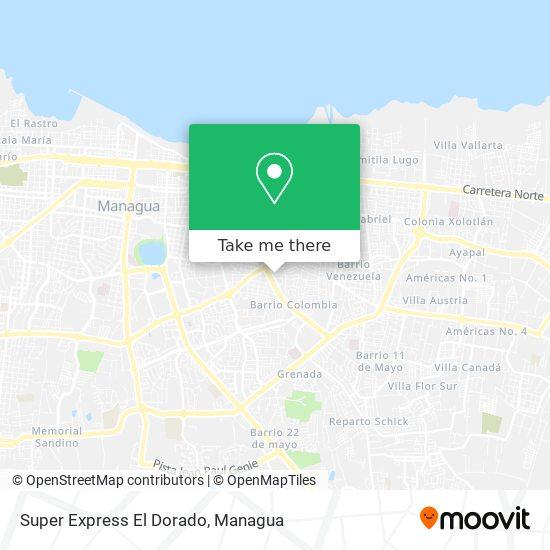 Super Express El Dorado map