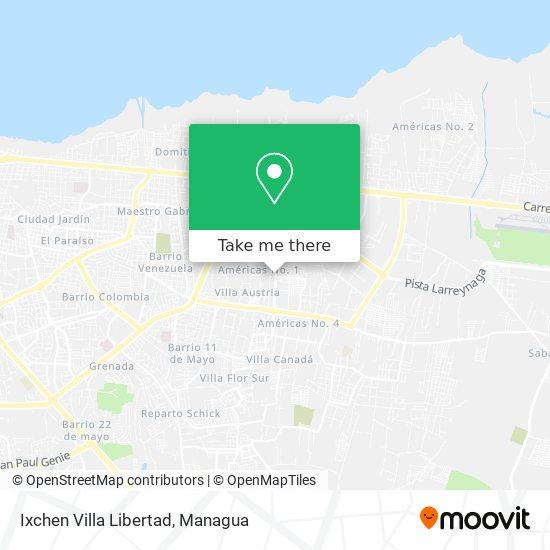 Ixchen Villa Libertad map