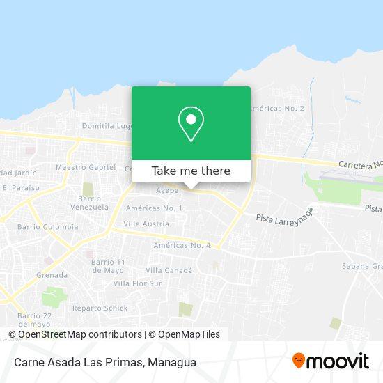 Carne Asada Las Primas map