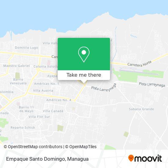 Empaque Santo Domingo map