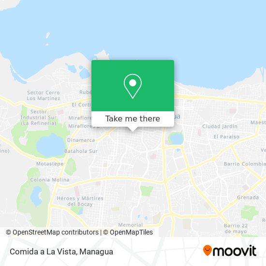 Comida a La Vista map