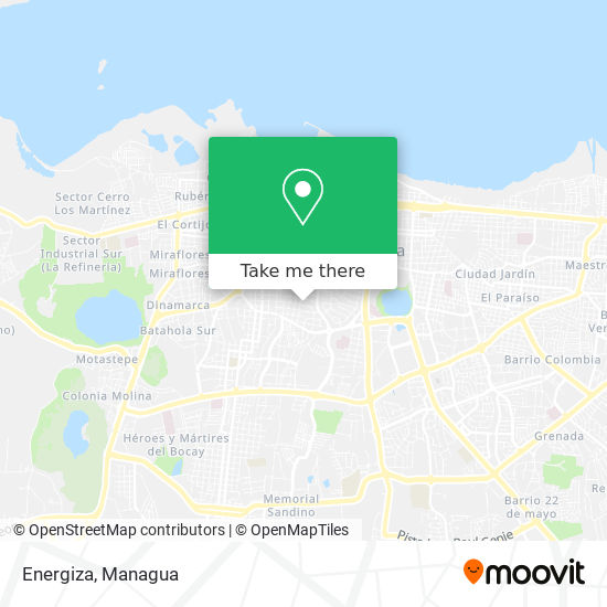 Energiza map
