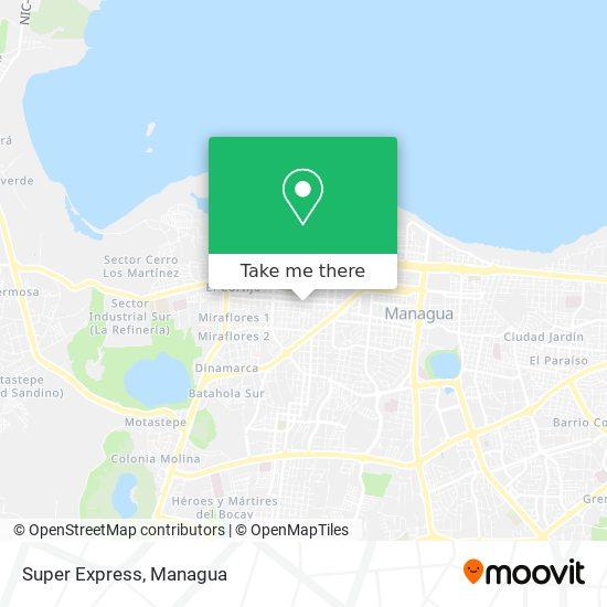 Super Express map