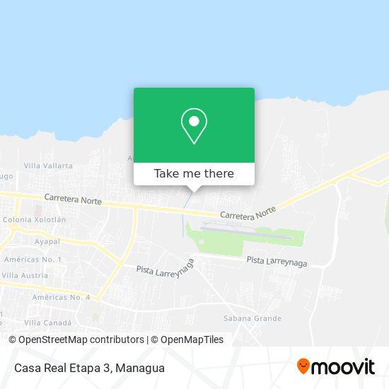 Casa Real Etapa 3 map