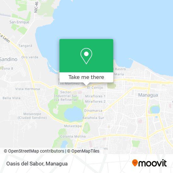 Oasis del Sabor map