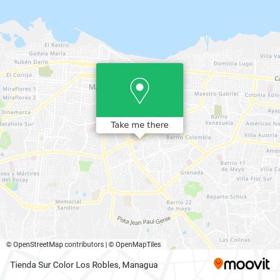Tienda Sur Color Los Robles map