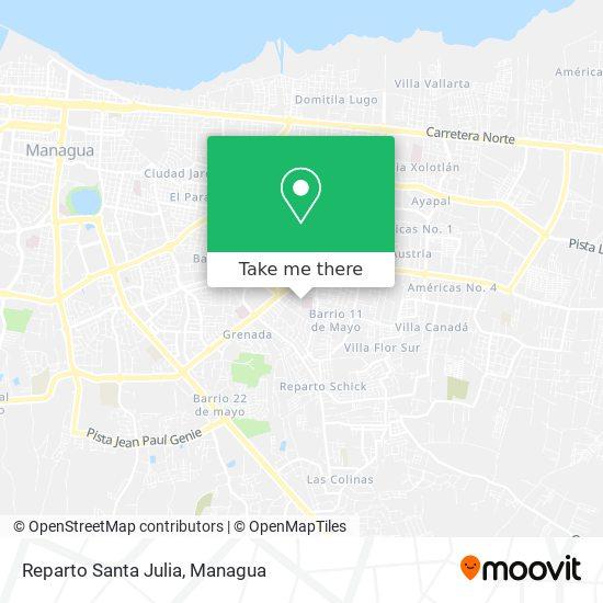 Reparto Santa Julia map