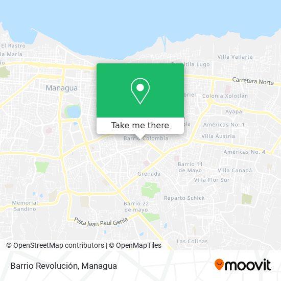 Barrio Revolución map