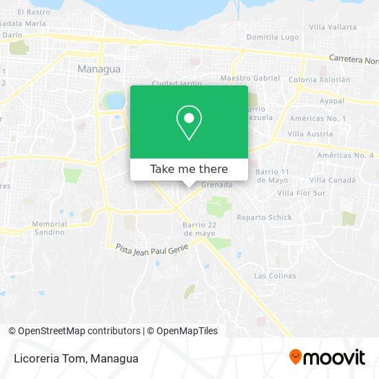 Licoreria Tom map