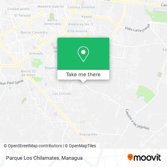 Parque Los Chilamates map