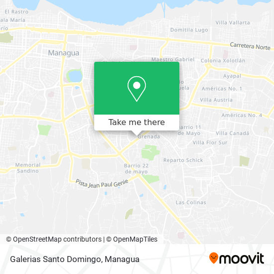 Galerias Santo Domingo map