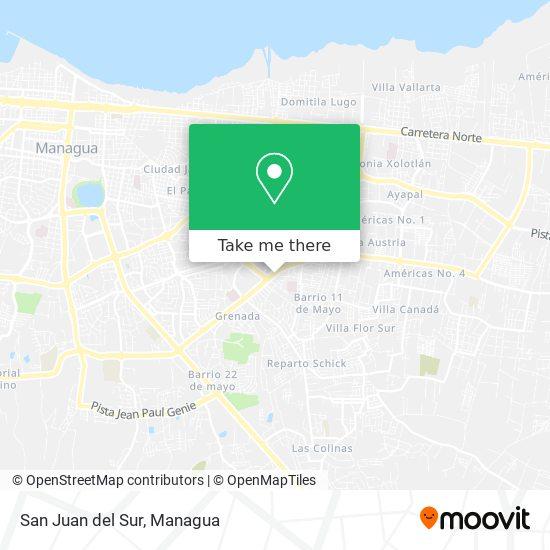 San Juan del Sur map