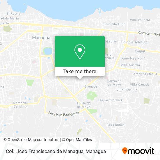 Col. Liceo Franciscano de Managua map