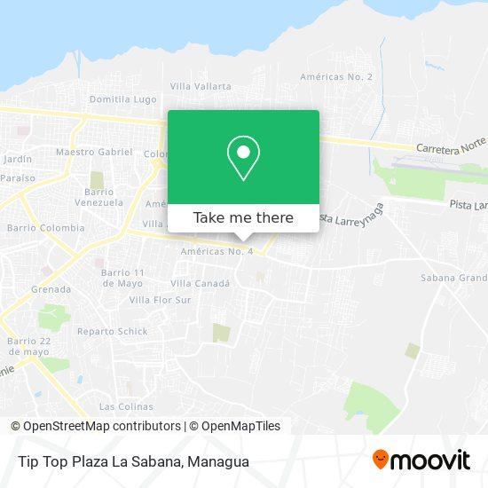 Tip Top Plaza La Sabana map