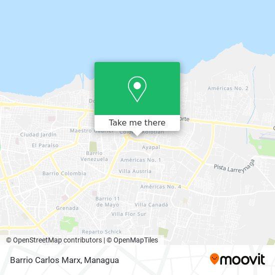 Barrio Carlos Marx map